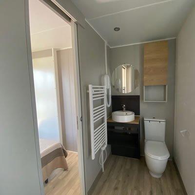 campeggio a cuneo bungalow con bagno