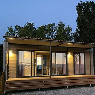 camping cuneo cottage di sera