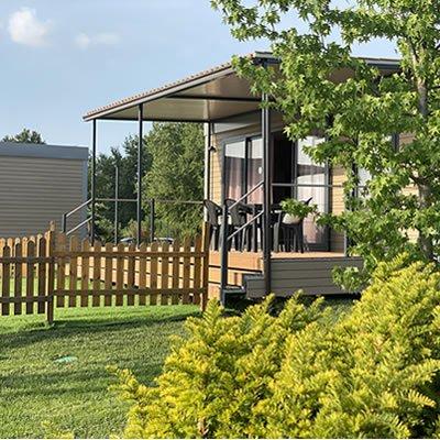 campeggio a Cuneo cottage con terrazza