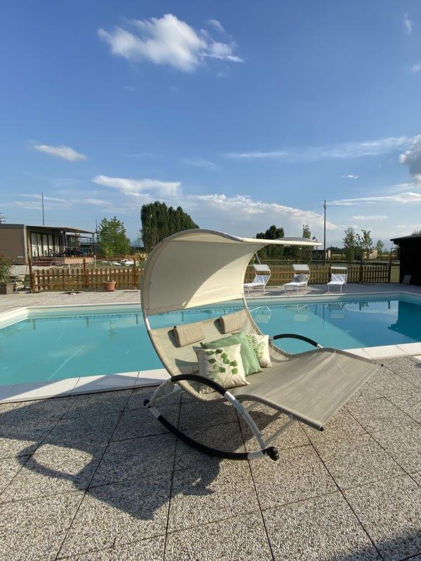 Glamping Piemonte piscina